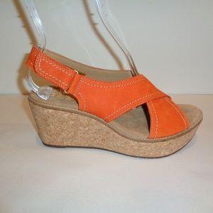 Clarks Size 9 M AISLEY TULIP Orange New Sandals